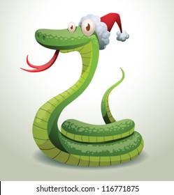 Santa snake 10, vector