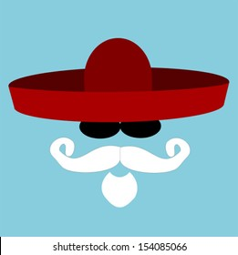 santa wearing sombrero and sunglasses