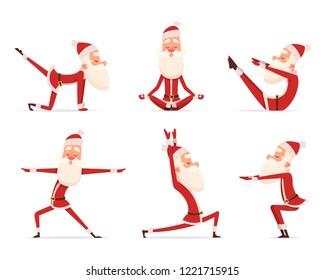 Santa yoga relax.