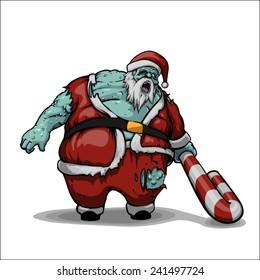 Christmas Zombie Santa.Zombie Christmas Images Stock Photos Vectors Shutterstock