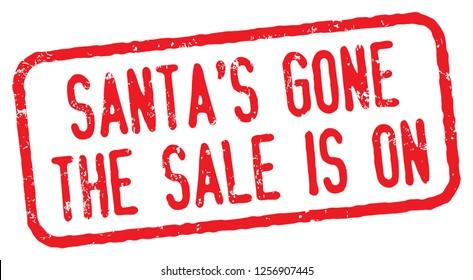 Santa's Gone. After Christmas Sale Stamp.