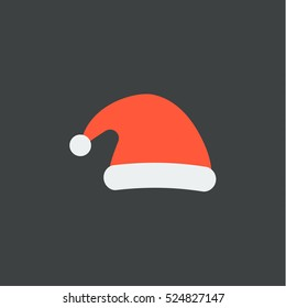 santa's hat icon, isolated, black background