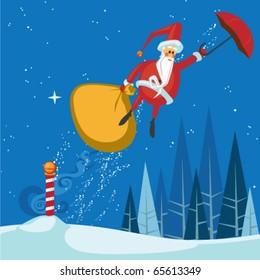 Santa's Magic Umbrella Ride