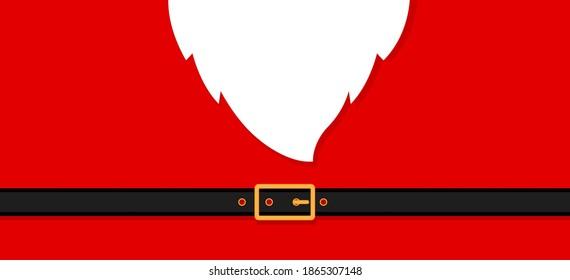 Santa's message banner background. Vector santa beard