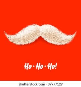 Santa's mustache. Vector.
