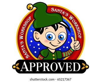 Santa's Workshop Approved Seal