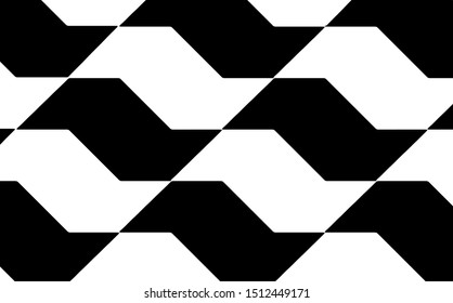 Sao Paulo typical and famous pavement on floor texture background pattern vector