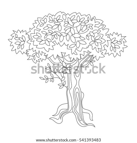 Line Drawings Sapling With Roots