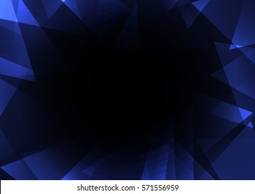 sapphire crystal abstract background, diamond business template, facet technology background, vector illustration, fractal frame abstract dark background