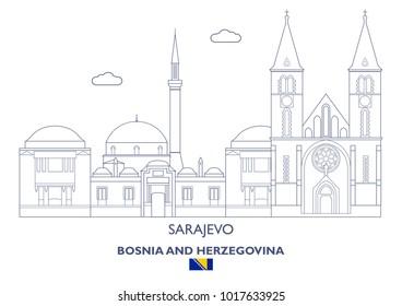Sarajevo Linear City Skyline, Bosnia and Herzegovina