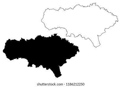 Saratov Oblast (Russia, Subjects of the Russian Federation, Oblasts of Russia) map vector illustration, scribble sketch Saratov Oblast map