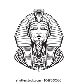 Sarcophagus of the Egyptian pharaoh adult coloring page
