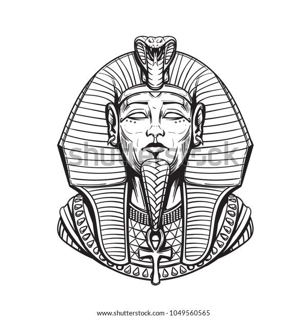 Vetor Stock De Sarcofago Do Farao Egipcio Para Colorir Livre De