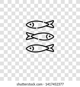sardines icon from portugal collection for mobile concept and web apps icon. Transparent outline, thin line sardines icon for website design and mobile, app development