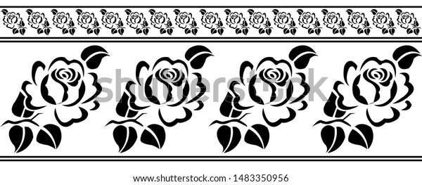 Black And White Flower clipart - Flower, White, Leaf, transparent clip art