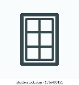 Sash window isolated vector icon