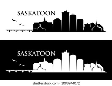 Saskatoon skyline - Canada - vector illustration