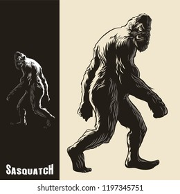 Sasquatch monkey gorilla walking