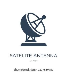 satelite antenna icon vector on white background, satelite antenna trendy filled icons from Other collection, satelite antenna vector illustration