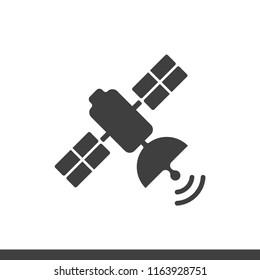 Satelite icon design flat style vector image
