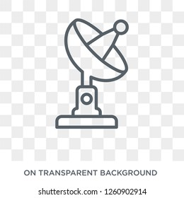 satellite antenna icon. Trendy flat vector satellite antenna icon on transparent background from General collection. High quality filled satellite antenna symbol use for web and mobile