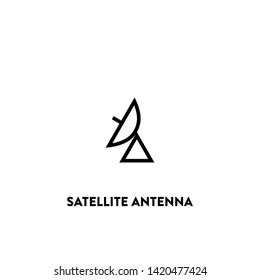 satellite antenna icon vector. satellite antenna sign on white background. satellite antenna icon for web and app
