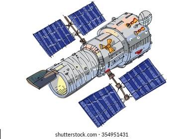 satellite - cartoon