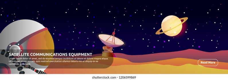 Satellite Communications Equipment - Banner Design