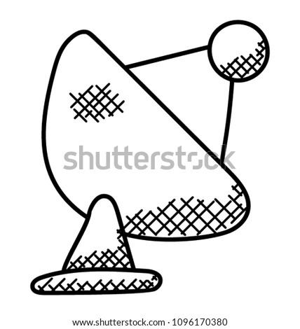 satellite dish antenna signals sign stock vector royalty free Dish Network Satellite satellite dish antenna with signals sign