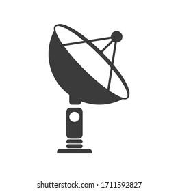 Satellite dish icon. Flat style. Isolated on white background.