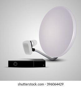 satellite dish and receiver.Vector illustration