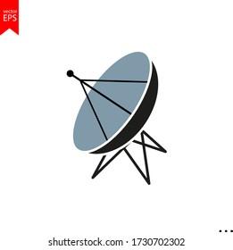 satellite gps icon vector, satellite