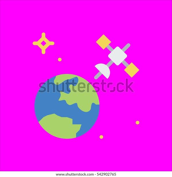 satellite icon flat disign