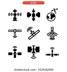 satellite icon isolated sign symbol vector illustration - Collection of high quality black style vector icons