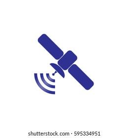 Satellite icon, transmission vector illustration
