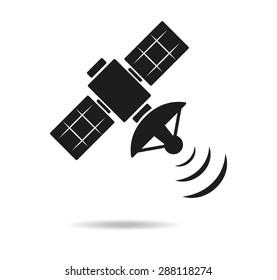 Satellite icon, vector
