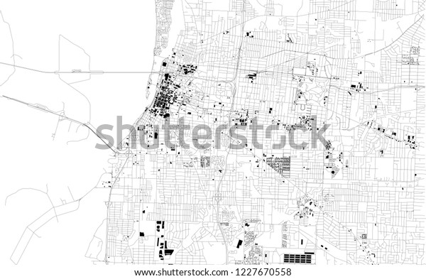 Satellite Map Memphis Tennessee Usa City Stock Vector ...