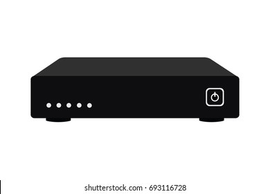 Satellite receiver, Set top box modern vector