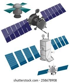Satellite set