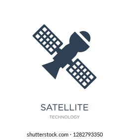 satellite transmission icon vector on white background, satellite transmission trendy filled icons from Technology collection, satellite transmission vector illustration