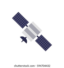 Satellite vector icon in simple flat style. These icons are perfect for your websites and applications. All icons in the vector, and you can easily change the color and size.