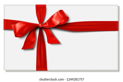 Satin Ribbon Bow Gift Card