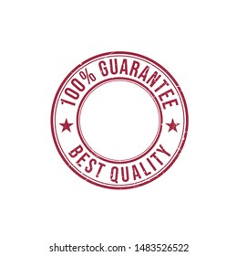 Satisfaction 100 % guarantee of best quality badge stamp vector design image template