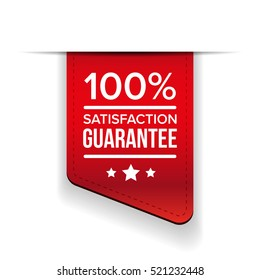 Satisfaction guaranteed black ribbon vector