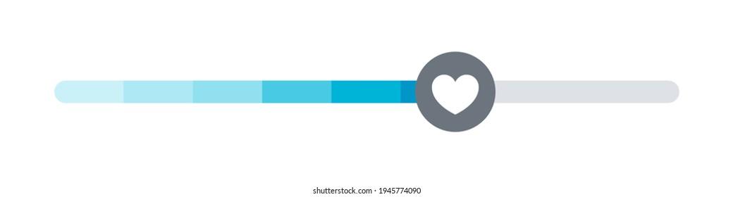 Satisfaction meter. Scale meter. Minimum to Maximum. Vector illustration concept