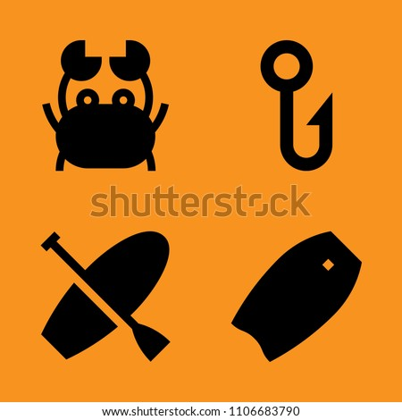 Satisfaction Sharp Grab Metallic Icons Set Stock Vector