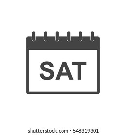 Saturday calendar page pictogram icon. Simple flat pictogram for business, marketing, internet concept on white background. Trendy modern vector symbol for web site design or mobile app.