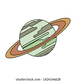 Saturn milkyway planet isolated symbol vector illustration graphic design