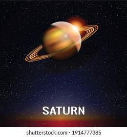 Saturn Planet Background in Vector Illustration