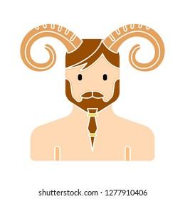 satyr vector icon - satyr vector isolated , greek mythology illustration- Vector roman satyr